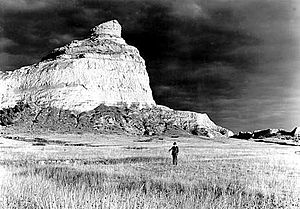 Landmarks of the Nebraska Territory - Scotts Bluff, 1938. Photo: George A. Grant