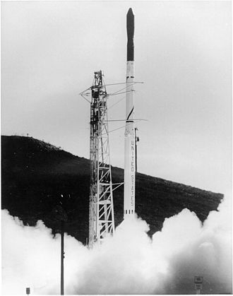 Vandenberg AFB Space Launch Complex 5 - A Scout rocket launches Explorer 19 from SLC-5.
