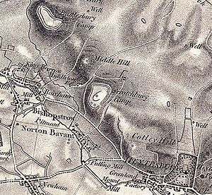 Scratchbury Camp - 1817 Ordnance Survey Map of Scratchbury Camp