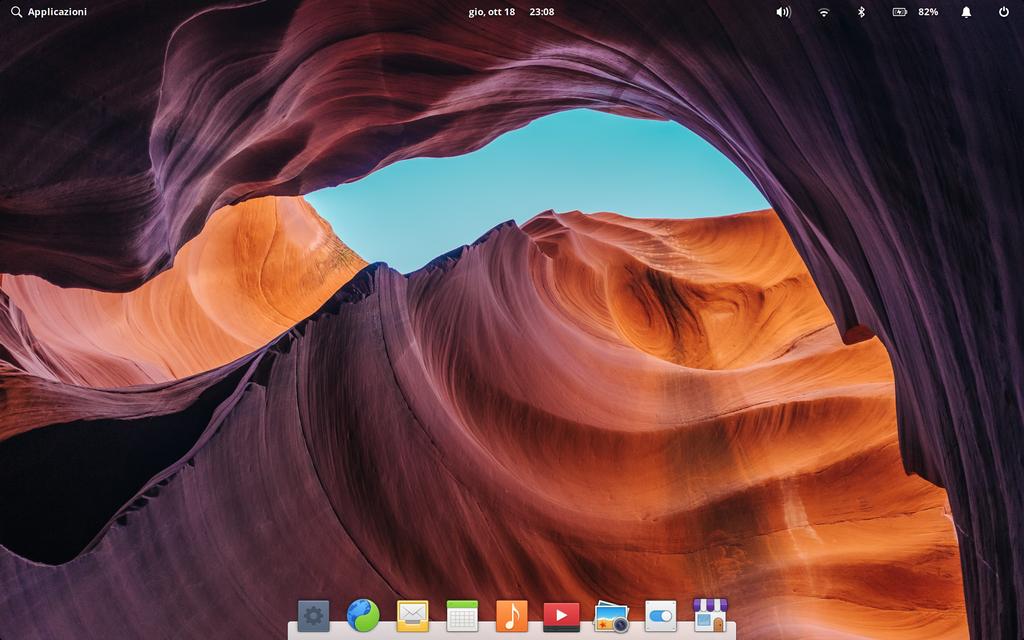 Scrivania di elementary OS 5.0 Juno