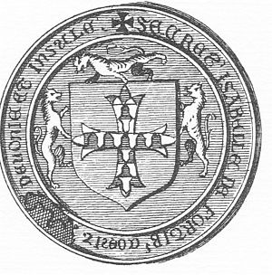 Isabel de Forz, suo jure 8th Countess of Devon - Image: Seal Of Isabella De Forz