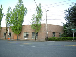 Madison Street (Seattle) - Former cable car house on the south side of Madison near 10th Avenue on Capitol Hill, later the Fine Arts Building of Seattle University