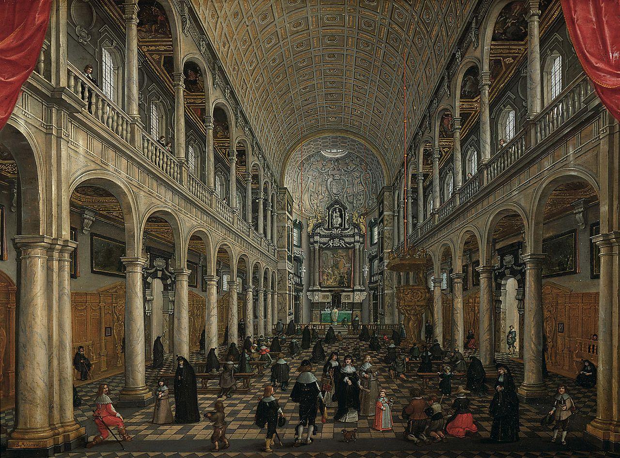 Vista interior de la iglesia de Jesucristo de Amberes