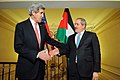 Secretary Kerry, Jordanian Foreign Minister Judeh Shake Hands After Addressing Reporters in Paris (12638310073).jpg