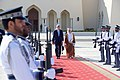 Secretary Kerry and Omani Foreign Minister bin Alawi Walk Through an Honor Guard (30911384931).jpg