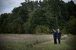 Secretary of Defense Leon E. Panetta, left, and Patrick White, the president of Families of Flight 93, visit the Flight 93 National Memorial during a 9-11 commemoration event Sept 120910-D-TT977-293.jpg