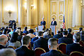 Secretary of defense and Secretary of State for Defense Michael Fallon hold a joint press conference 151009-D-LN567-115.jpg