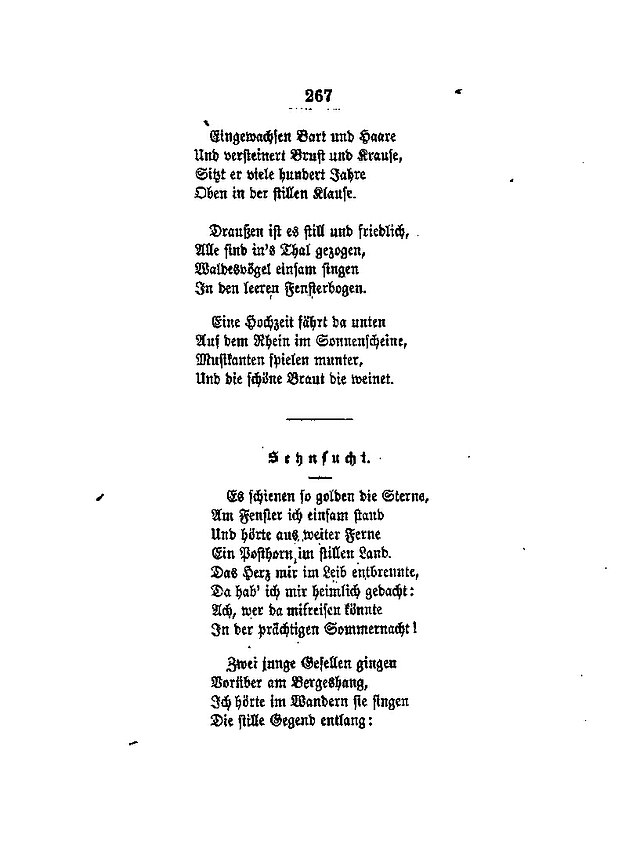 eichendorff gedichte interpretation