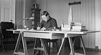 Self-portrait Kristian Berge working. 1913. (8423399078).jpg