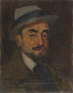Self-portrait by Antonino Calcagnadoro, oil on canvas