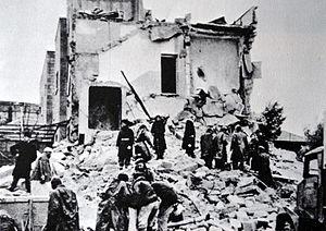 Semiramis Hotel bombing - The ruins of the Semiramis Hotel after the Haganah bombing