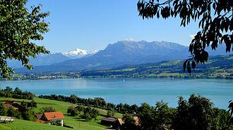 Eich, Switzerland - Image: Sempachersee Pilatus Titlis DSC04751