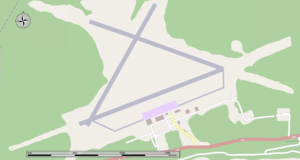 Sept-Îles Airport - Map of the airport.