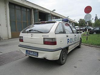 Zastava Florida - Image: Serbia police car 03