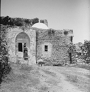 Sharafat, East Jerusalem - The Weli of Budrieh at Sherafat, between 1900 and 1926.