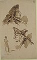 Sheet of Studies- Two Male Heads in Profile and Standing Man MET 1989.380.jpg