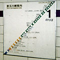 Shin-Tamagawa Line board in Shibuya Station2000-07.jpg