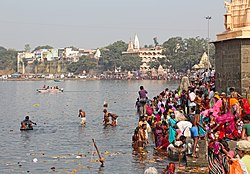 The Shri Ram Ghat on the Shipra River