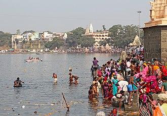 Shipra River - The Shri Ram Ghat on the Shipra River in Ujjain
