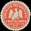 Siegelmarke K.Pr. 2. Westfälisches Pionier-Bataillon No. 24 W0363097.jpg