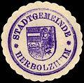Siegelmarke Stadtgemeinde - Herbolzheim W0229423.jpg