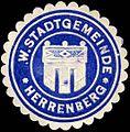 Siegelmarke W. Stadtgemeinde - Herrenberg W0226329.jpg