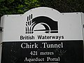 Sign at the tunnel south portal - geograph.org.uk - 874760.jpg