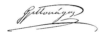 José Gregorio Monagas - Image: Signature of José Gregorio Monagas