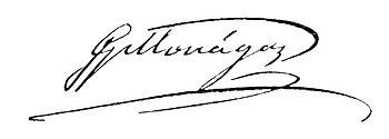 Signature of Jos%C3%A9 Gregorio Monagas