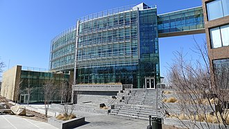 Stony Brook University - Simons Center for Geometry and Physics in the west end of Stony Brook University. One of the many gifts received by the University in the 2000s