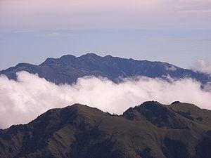 Xiuguluan Mountain - Xiuguluan Mountain as seen from Xiangyang Mountain ridge