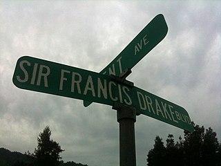 Sir Francis Drake Boulevard Street in Marin County, California, United States