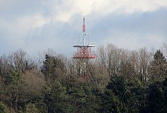 Rožnik (hill) - Transmitter tower on Šiška Hill