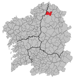 Muras, Galicia - Image: Situacion Muras