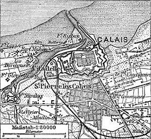 Siege of Calais (1940) - Image: Situationsplan von Calais