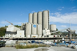 Norcem - Norcem cement terminal in Slemmestad
