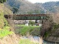 Small Railway Bridge spans Hazama river in Sakahogi town (Takayama Main Line).jpg