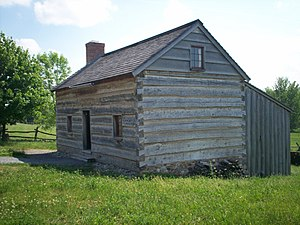 Smith Family Farm - Reconstructed Smith log cabin