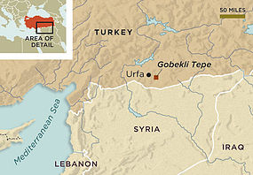 map showing location of site in southeastern Turkey