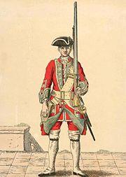 Soldier of 19th regiment 1742