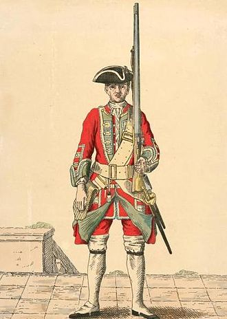 Green Howards - Soldier of 19th regiment, 1742