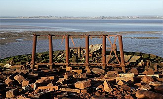 Solway Junction Railway - Remains of Solway viaduct - English side 2018