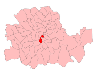 James Daniel Gilbert - Southwark Central in the London County area 1918-49