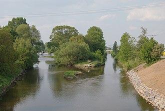 Svratka (river) - Confluence of Svratka (left) and Svitava rivers