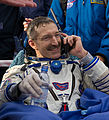 Soyuz TMA-22 crew member Dan Burbank shortly after the capsule landed.jpg