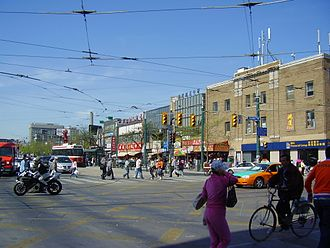 Spadina Avenue - View of Spadina Avenue, looking north from its intersection with Dundas Street