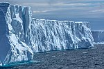 Spectacular Christmas morning cruise through the remants of giant Tabular iceberg B15Y, which is now grounded just off Bransfield Island at the N tip of the Antarctic Peninsula. (25370649053).jpg
