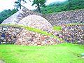 Sphere stone wall(Tenkyumaru,Tottori-castle ruins).jpg