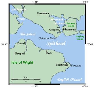 Portsea Island - Closeup map of Portsea Island