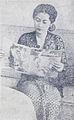 Sri Uniati reads Dunia Film, Dunia Film 1 Apr 1955 p17.jpg